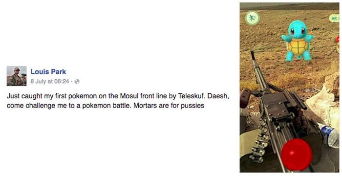 pokemon-go-Soldado-americano-captura-um-Squirtle-enquanto-luta-contra-Estado-Islamico
